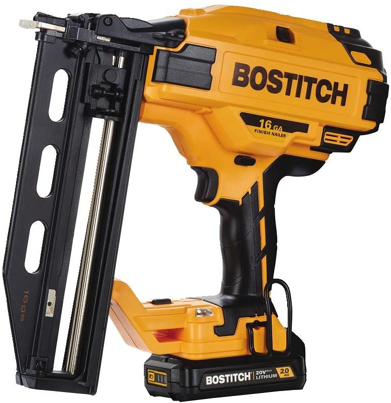 BOSTITCH 20v MAX Cordless Straight Finish Nailer