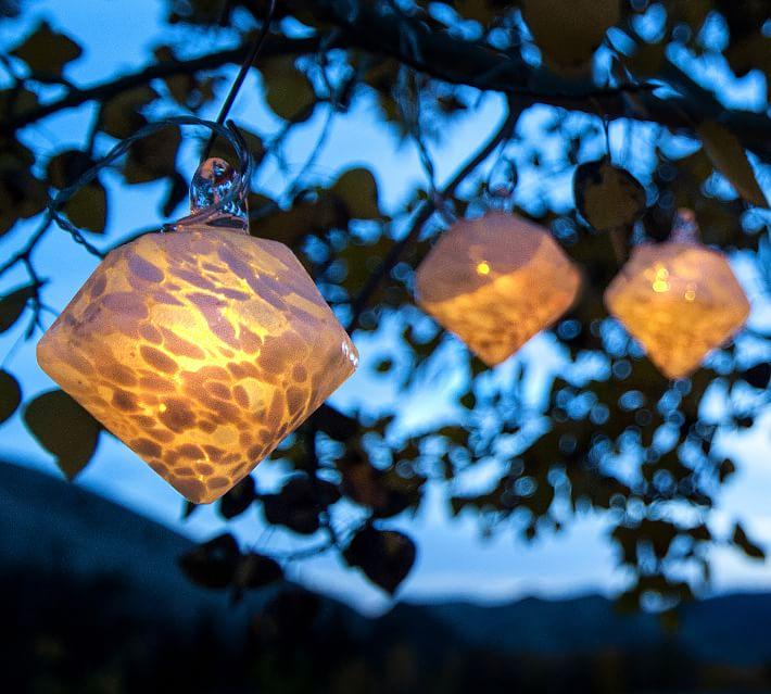 Pottery Barn White Diamond Solar String Lights