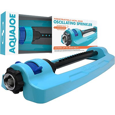 Aqua Joe Oscillating Sprinkler with Adjustable Spray