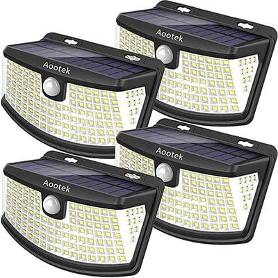 Aootek Wide Angle Solar Security Flood Lights