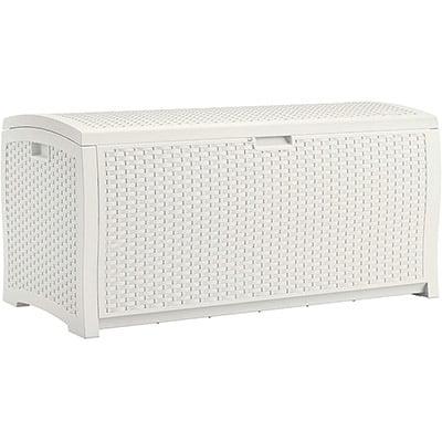 Suncast Resin Wicker Patio Storage Box