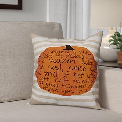 Embrace Autumn Throw Pillow